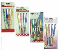 4 X Kids Cartoon Character Gel Pens Children Kids School Craft Stationary pen