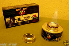 2 x British Army Issue Gel / Meth Burner Stoves Cooking Camping Fishing Burners