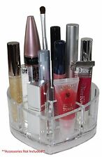 Clear Acrylic Heart Cosmetic and Makeup Brush Holder with 8 Spaces US Seller