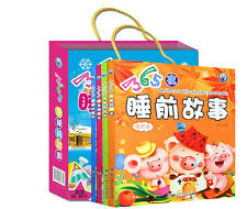 4 books /set 365 night bedtime story with pin yin Chinese learning for baby