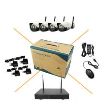 4CH 720P Wireless IP Camera System WIFI NVR KIT Outdoor Security IR Night Vision