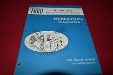 "Ford Tractor 34"" Snow Auger For 75 70 Lawn Tractor Operator's Manual CHPA"