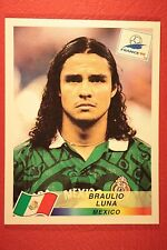 PANINI WC WM FRANCE 98 1998 N. 364 MEXICO LUNA WITH BLUE BACK MINT!!