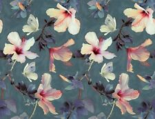 1 meter floral  digital print on cotton silk fabric