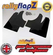rallyflapZ to fit PEUGEOT 207 Rally Style Mudflaps Mud Flaps Black Plain 4mm PVC