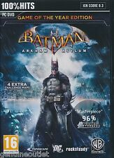 Batman Arkham Asylum GOTY PC Game of the Year Edition for PC Brand New Sealed