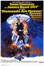 "DIAMONDS ARE FOREVER Movie Poster [Licensed-NEW-USA] 27x40"" Theater Size (Bond)"