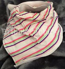 ❤ Special Needs Disabled Dribble Bib Bandana Adult Teen Large ❤ Neon Stripes  ❤