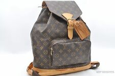 Authentic Louis Vuitton Monogram Montsouris GM Backpack M51135 LV 23169