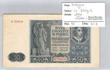BILLET POLOGNE - 50 ZLOTYCH 1941 - RARE!!!!