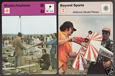 MODEL AIRPLANES Flying Hobby Photos 1979 SPORTSCASTER 2 CARDS