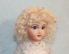 Dee Brown or Light Blonde mohair wig for antique French or German doll Size 14