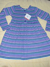 NWT Hanna Andersson Long Sleeve Girls Striped Play Dress 130 8 US NEW