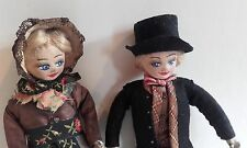Antique, Vintage Cloth / Felt Doll, Hand painted detailing ~ Origianl Swiss Toy