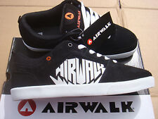 brand NEW Casual, leather AIRWALK CHADWICK Black/White trainers UK 7