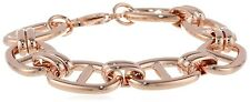 Chunky Mariner Anchor Link Bracelet 14K Rose Gold Clad Stainless Steel