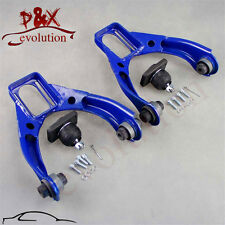 For 96-00 Honda Civic Adjustable Ball Front Upper Control Arm Camber Kit blue