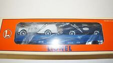 LIONEL 6- 16985 -  EASTWOOD - FLAT WITH  2 FORD PANEL TRUCKS CAR    NEW BOXED