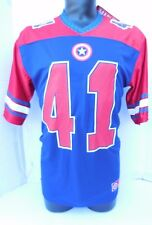 MARVEL CAPTAIN AMERICA Football Jersey #41 SUPER SOLDIER LARGE POLYESTER CASUAL