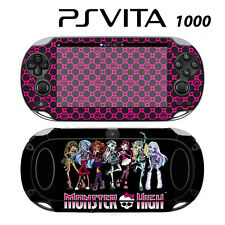 Vinyl Decal Skin Sticker for Sony PS Vita PSV 1000 Monster High Ghoul Hot Pink S