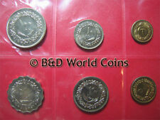 LIBYA 1979 6 COINS TYPE SET SEALED PACK 1,5,10,20,50,100 DIRHAMS COLLECTABLE