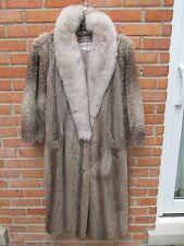 Raccoon Fur Coat w Fox Collar Size Medium M