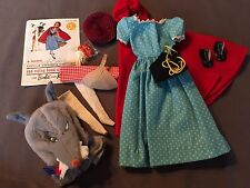 Vintage Barbie Little Red Riding Hood Outfit NC Corset Shoes Mask Socks Hat Cape