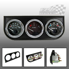 "TRIPLE Gauge KIT pressione olio, olio / acqua TEMP sagome 52mm / 2 ""DASH PANEL MOUNT"