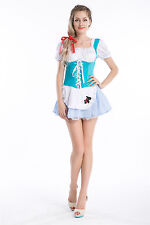 Womens Dorothy Kansas Fancy Dress Costume Fairy Tale Toto dog Oz Outfit 8-10 S