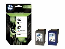 GENUINE ORIGINAL HP 56 Black 57 Colour Ink Cartridges BRAND NEW CSA342AE Expired