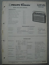 Philips 12 RP484 Kofferradio Rallye Luxus Service Manual Ausgabe 03/68