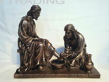 NEW Jesus Washing His Disciple's Feet Statue Figures Sculpture Ship Immediately