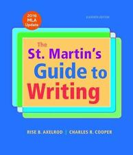 NEW - The St. Martin's Guide to Writing with 2016 MLA Update