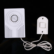 Battery Operate Mini OK Wired Doorbell Door Bell Loud Ding-Dong Sound White Home