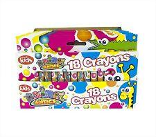 18 PACK COLOURFUL CRAYONS FOR CHILD KIDS TODDLERS ART & CRAFT EDUCATIONAL TOYS