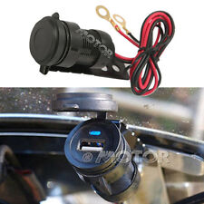 12V Waterproof Cellphone USB Charger Adapter Fit Harley Softail Fat Boy FLSTF