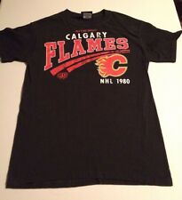 Calgary Flames Old Time Hockey NHL 1980 Mens Small S Black Short Sleeve T-shirt