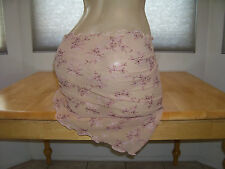 New Stripper Exotic Dancer Nude Peach Floral Mesh Wrap Bikini Cover Dancewear