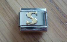 Italian Charms Charm - Gold Letters   Letter S