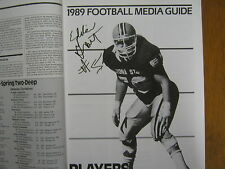 1989 ARIZONA STATE  Football Media Guide(Signed by 6-  LARRY  MARMIE/EDDIE GRANT