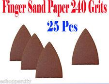 Pack 25 Sandpaper Oscillating Multi Tool Fein 240 Grits Finger Sand Paper Velcro