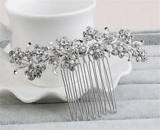 Bridal Accessories Diamante Floral AliceBand Crystal Wedding Headdress 1 Piece