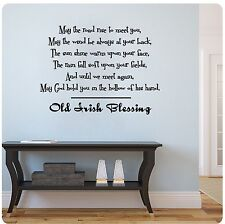 """29"""" Old Irish Blessing May The Road Rise Up To Meet You Wall Decal Sticker"""