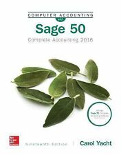 COMPUTER ACCOUNTING WITH SAGE 50 2016 by Yacht, Carol
