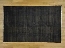"""5'7""""x7'9"""" Tone on Tone Wool and Silk Nepali Hand Knotted Oriental Rug G34158"""
