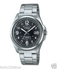 MTP-S101D-1B Black Casio Men's Watches Solar Powered 50m Steel Band Date New