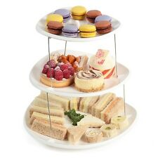 TWISTFOLD COLLAPSIBLE 3 TIER PARTY PLATES - SERVING PLATES PLATTER CAKE STAND