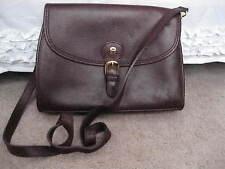 ETIENNE AIGNER Burgundy Leather Crossbody Shoulder Bag Shiny Brass Hardware NICE