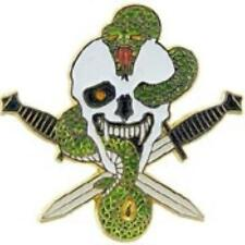 SKULL, SNAKE AND CROSSED DAGGERS LAPEL PIN