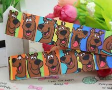 BTY 7/8 Inch Scooby Doo Grosgrain Ribbon Hair Bows Scrapbooking Crafts Lisa